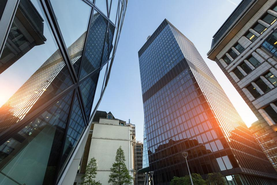 The Financial District in London
