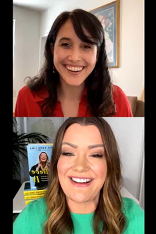 Maggie McGrath and Jamie Kern Lima speak on an Instagram Live.