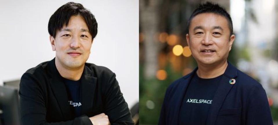 Axelspace CEO Nakamura Yuya (left) and Yamazaki Yasunori, chief business officer.