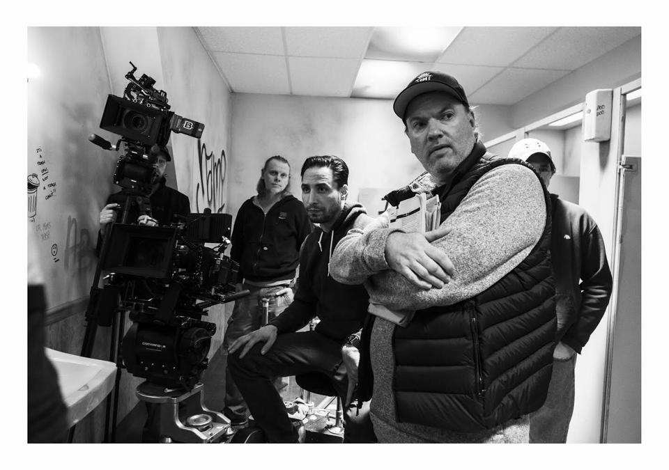 Director Kevin Lewis on the set of ″Willy's Wonderland″