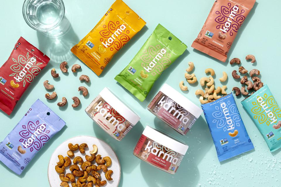 Karma Nuts ″skin-on″ cashews reduce the amount of waste in the food system.