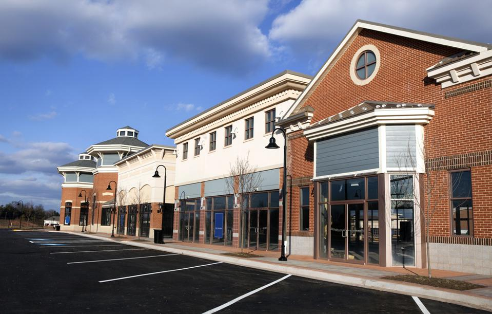 New Retail Strip Mall with Vacancies