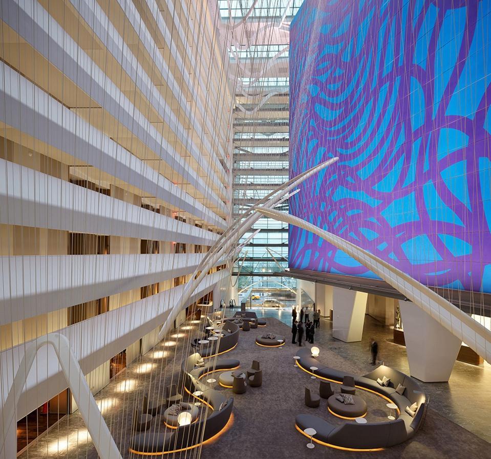 Art in lobby