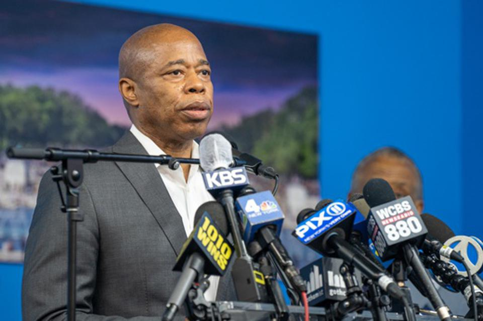 Brooklyn Borough President, New York City Mayoral candidate Eric Adams.(Photo by David Dee Delgado/Getty Images)