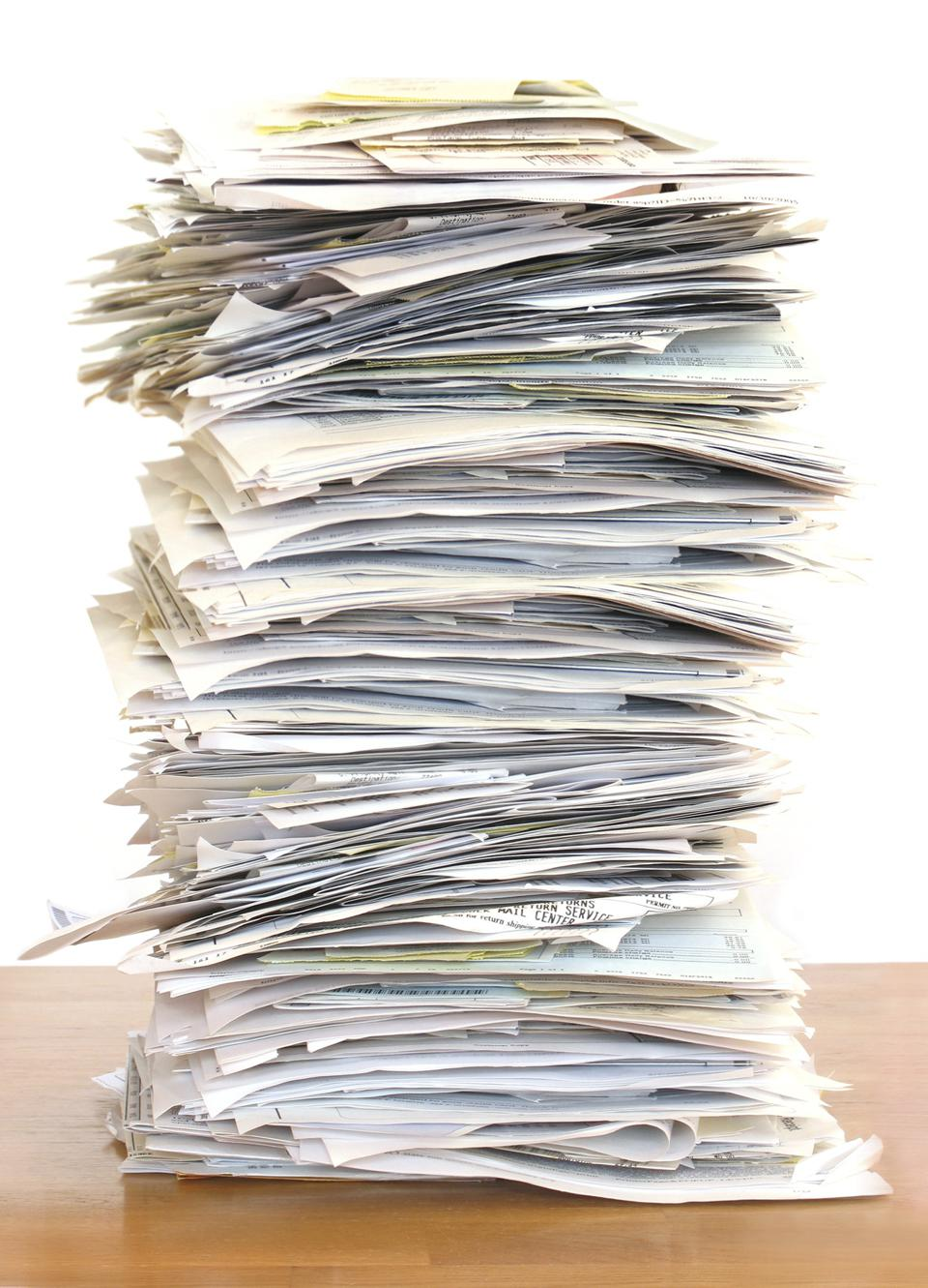 If possible, e-file your tax return. The IRS is swimming in paper.