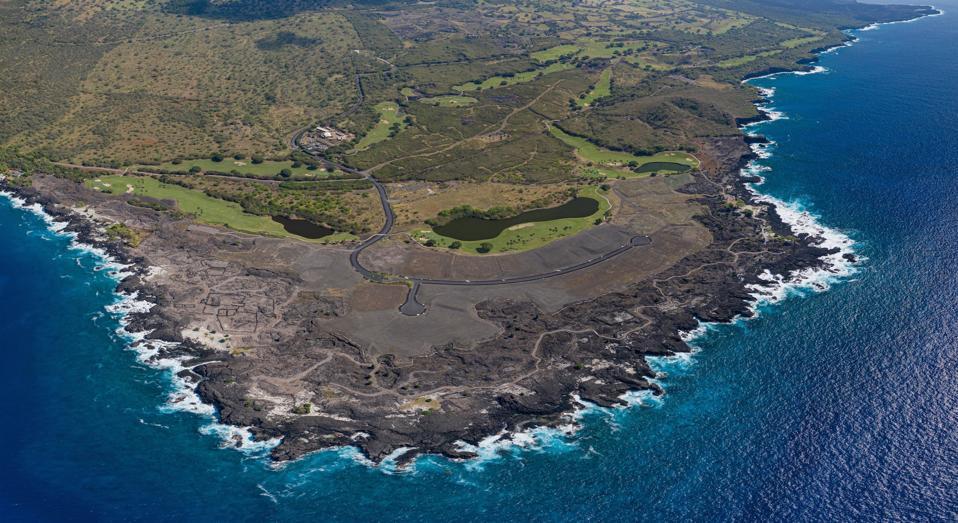 aerial view of Hokulia luxury development hawaii