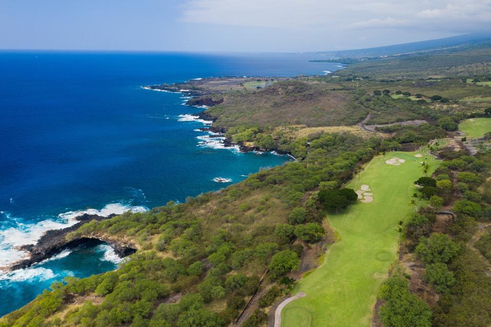 jack nicklaus golf course at Hokuli'a on big island hawaii kona coast