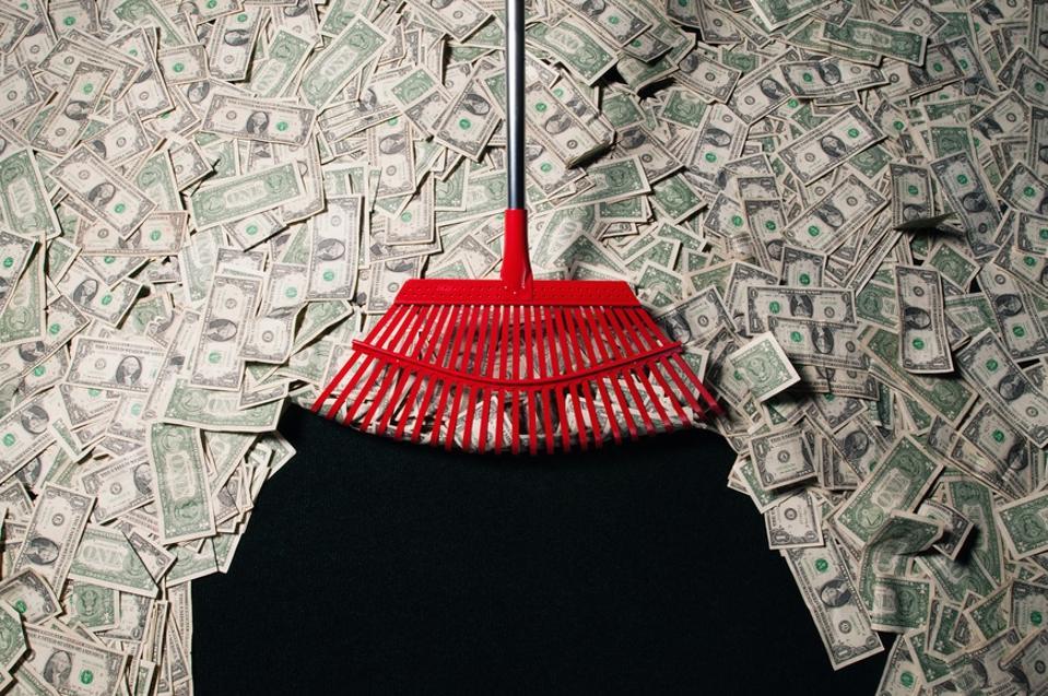 Raking in money