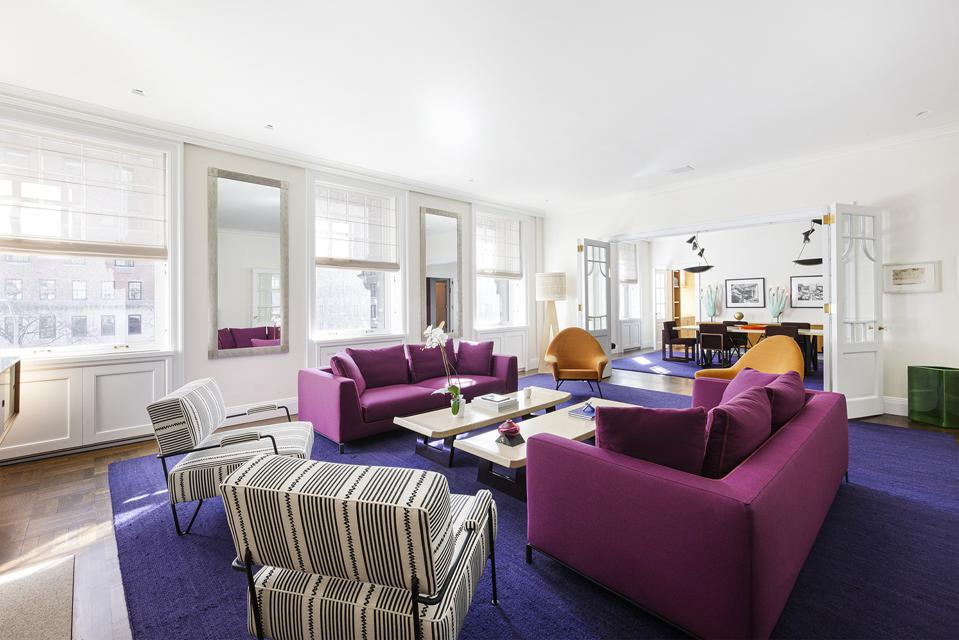 living room in apartment 28 at 1000 park avenue upper east side manhattan
