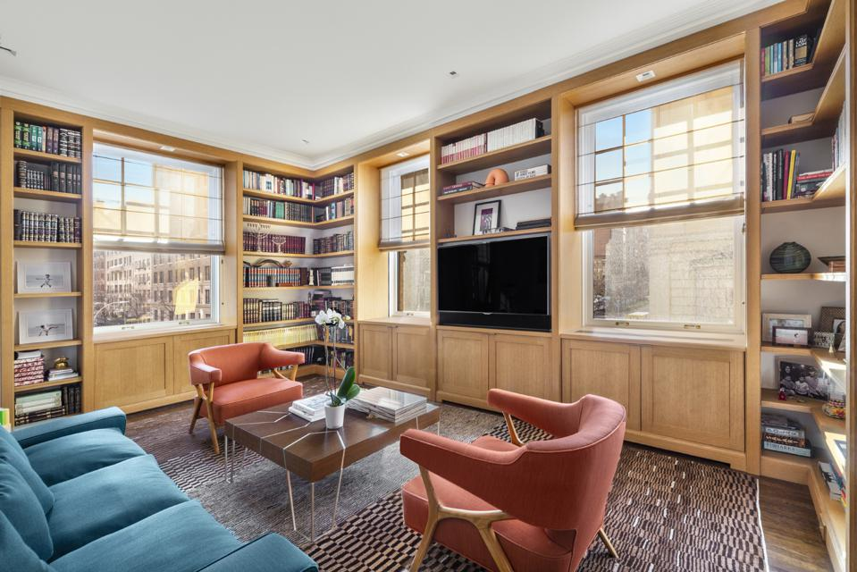 library at 1000 park avenue apt 2a manhattan upper east side co-op nyc