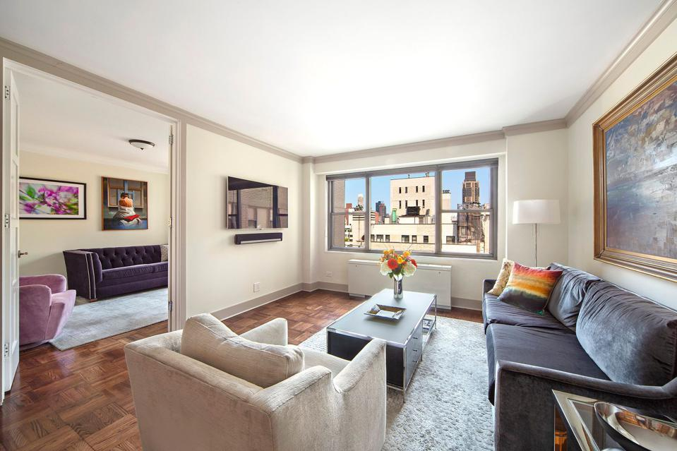 living room in apt 23E 400 East 56th Street sutton place new york city apartment