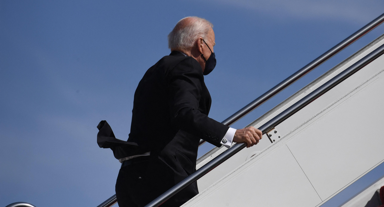 Biden Trump Ford trip fall Air Force One