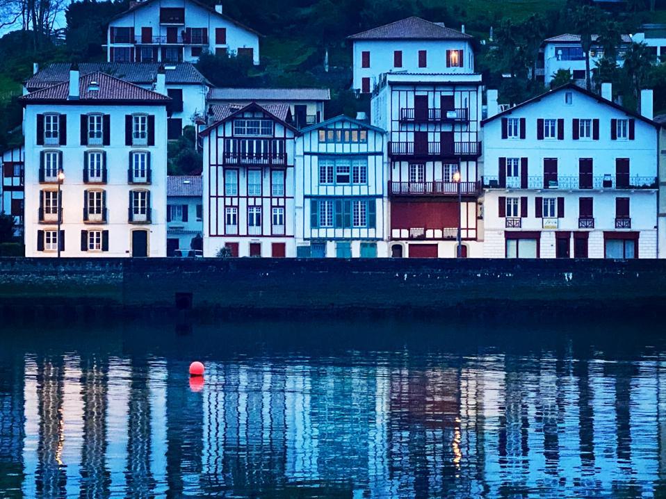 Harbor buildings in Saint-Jean-de-Luz, southwest France