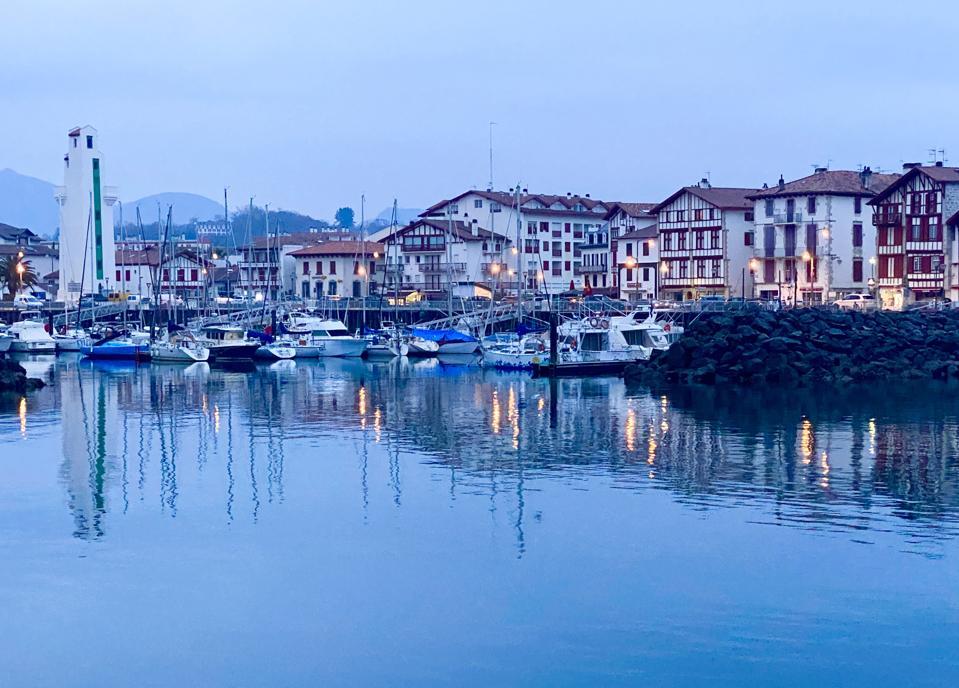 Saint-Jean-de-Luz harbor at dawn, southwest France