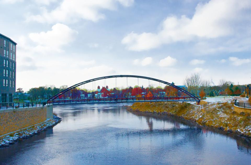 Bridge over the Eau Claire river-Wisconsin