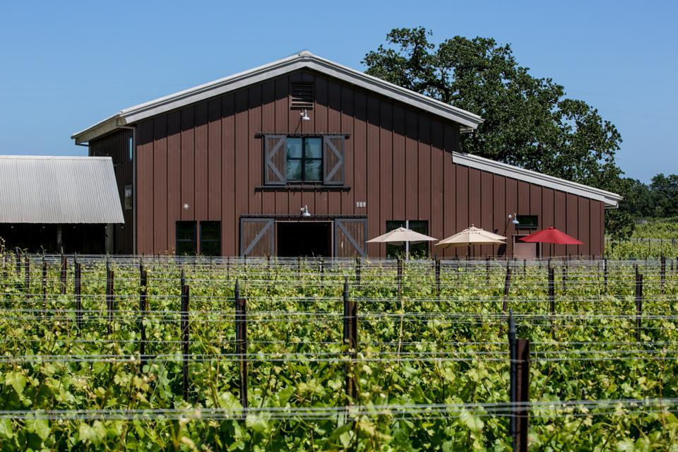 Inman Family Wines winery and tasting room in the Olivet Grange Vineyard.