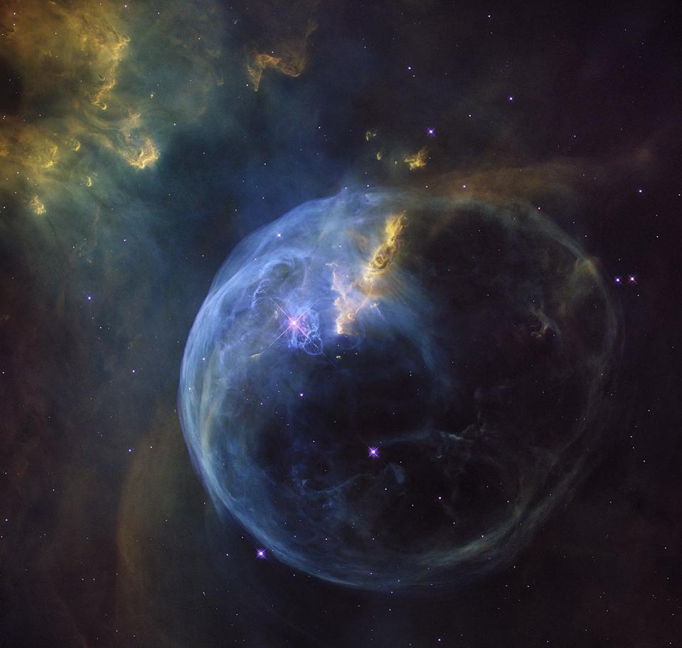 The Bubble Nebula, also known as NGC 7635, is an emission nebula 8,000 light-years away.