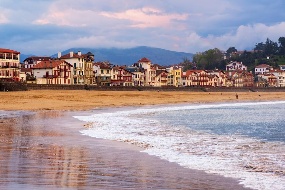 Saint Jean de Luz, Basque Coast, France, on sunset