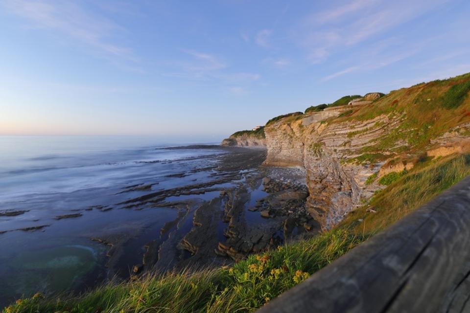 Cliffs at Saint-Jean-de-Luz, France