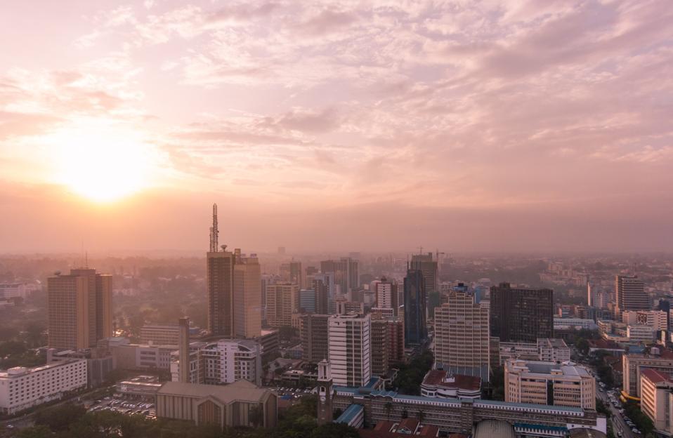 Nairobi - Sunset over the rooftops