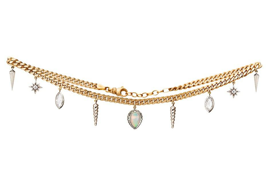 The Opal Astrea Choker features diamonds and Ethiopian opal