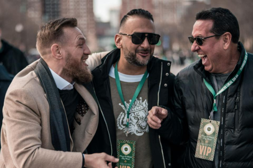 Conor McGregor parties at a St. Patrick's Day Parade in 2019