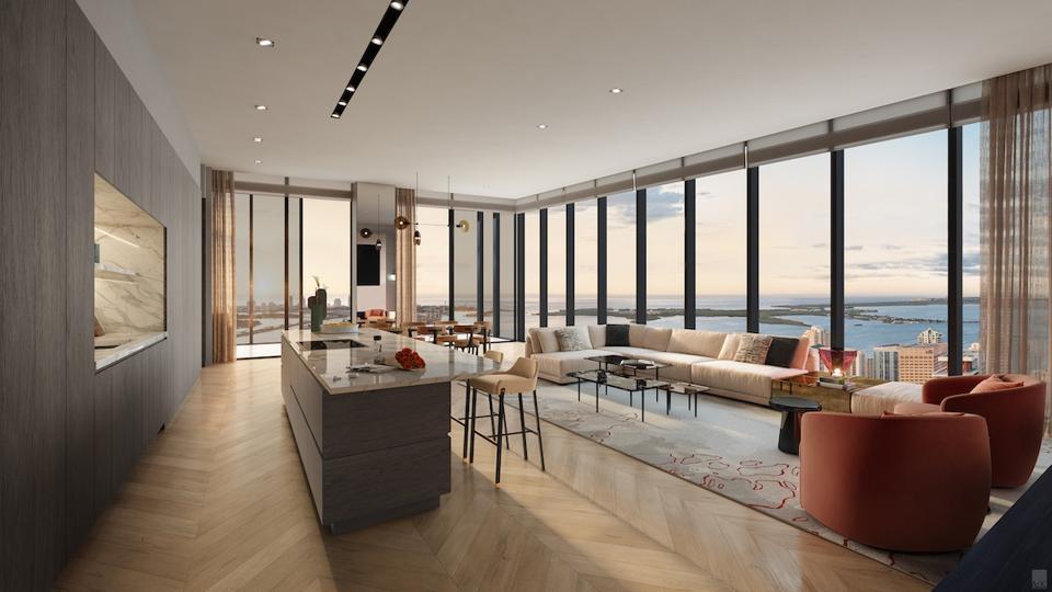 Waldorf Astoria luxury hotel real estate Miami penthouse