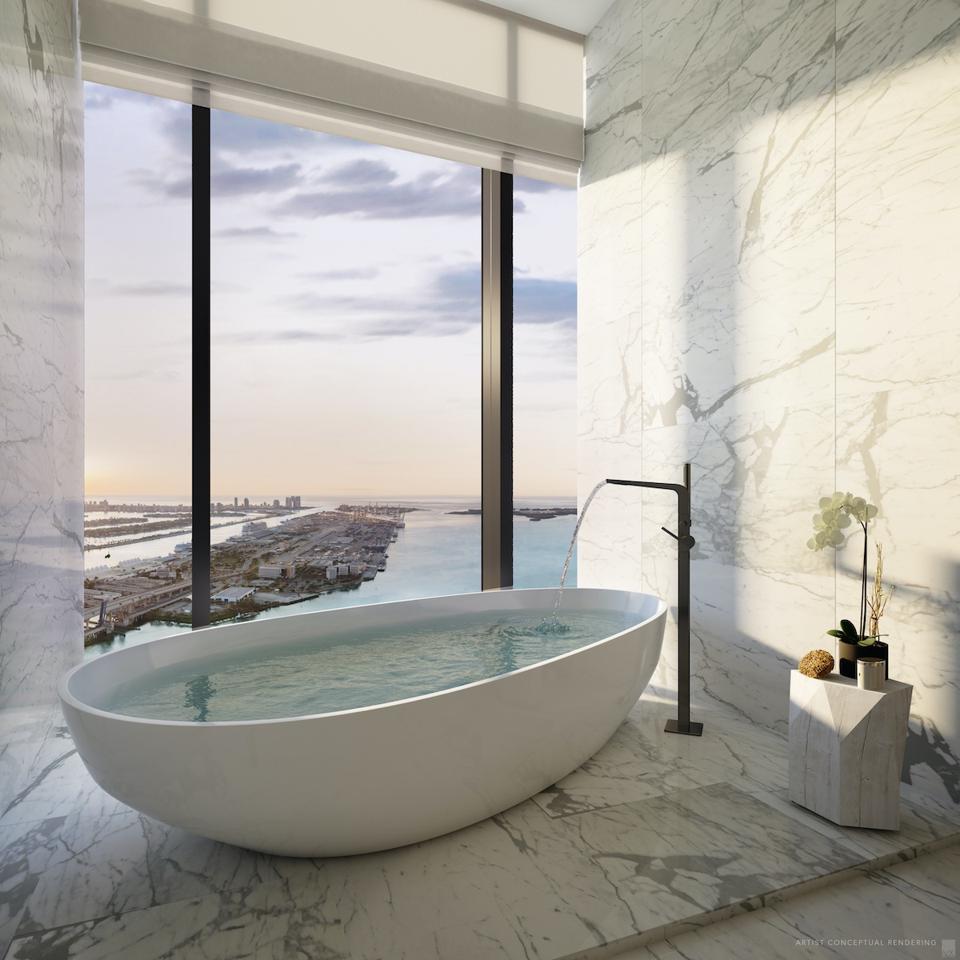 Miami Waldorf Astoria luxury hotel real estate bathroom