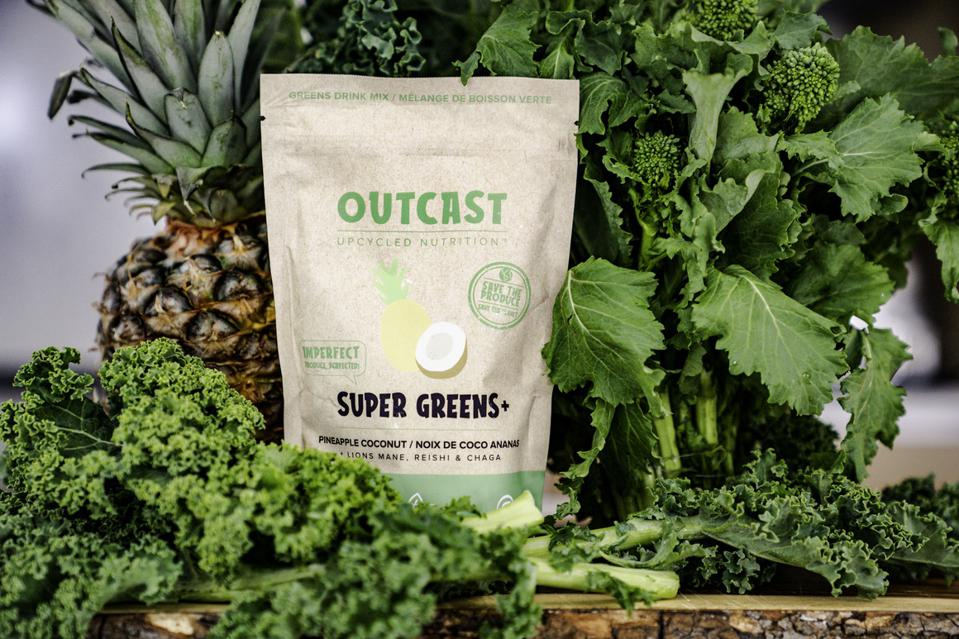 Upcycled Greens from Outcast boosted with a mushroom blend and a tropical taste.
