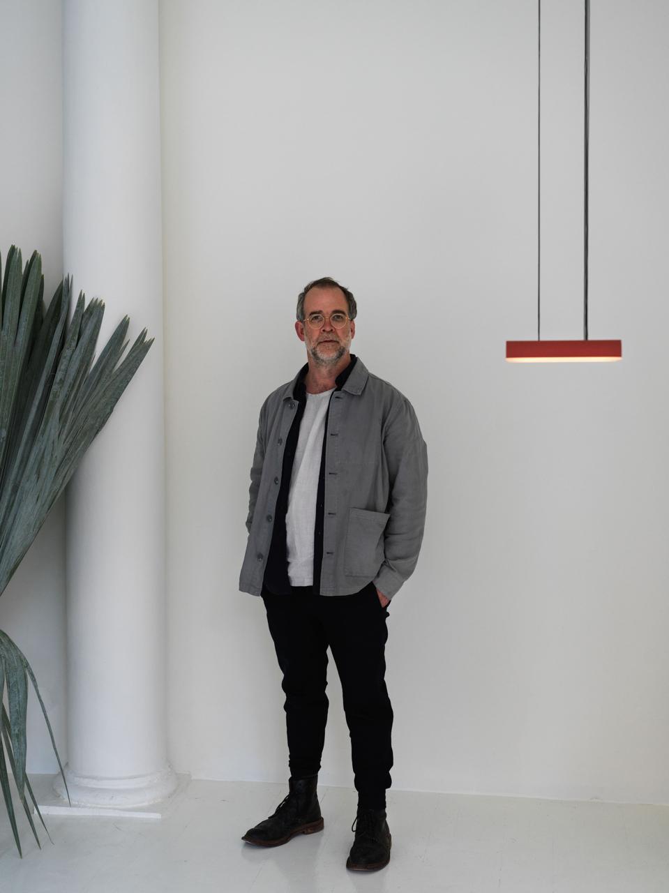 Founder and creative director Samuel Lambert in his new showroom, located in Tribeca's historic Schepp Building.