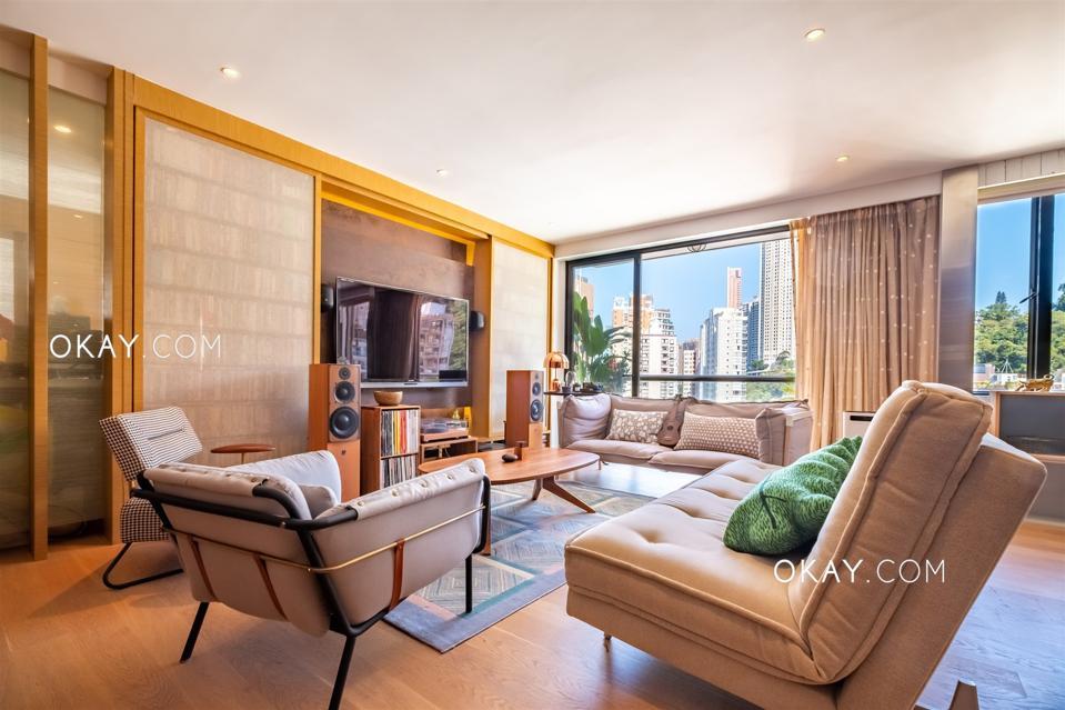 condo living room at 1 Holly Road, Happy Valley hong kong