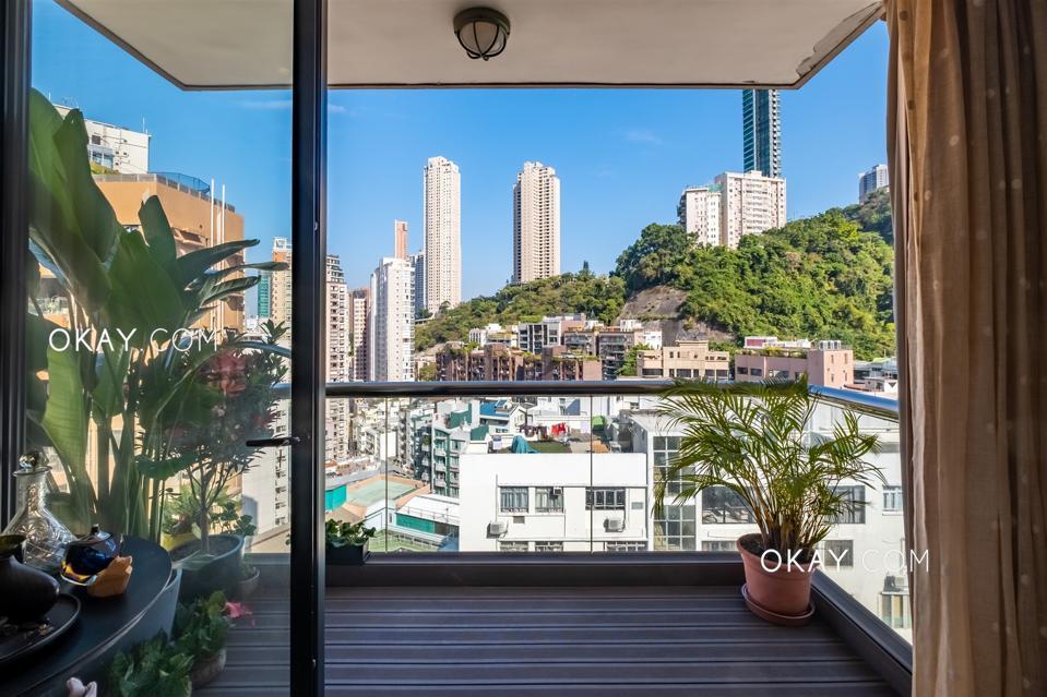balcony view from condo at 1 Holly Road, Happy Valley hong kong
