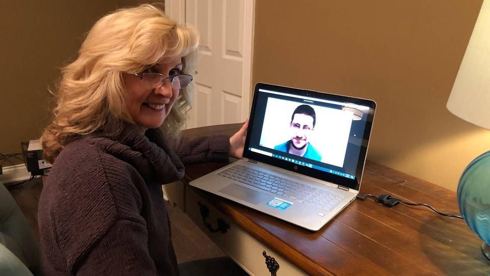 Lori Gabrek is mentoring Mark Fiorito, a jobseeker on the autism spectrum