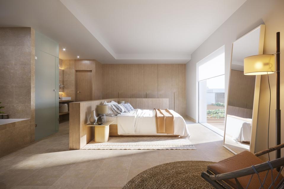 bedroom inside luxury villa in ibiza spain