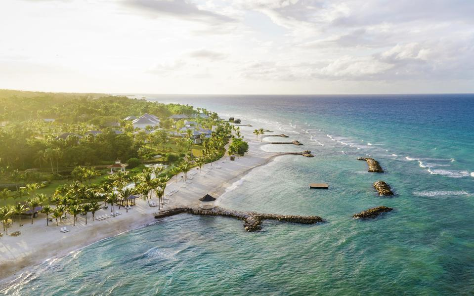 Aerial view of Eclipse accomodations at Half Moon, Montego Bay