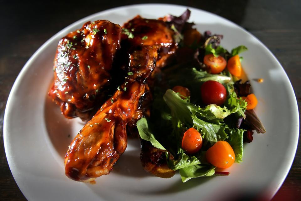 Close-up of Jerk Chicken in Jamaica