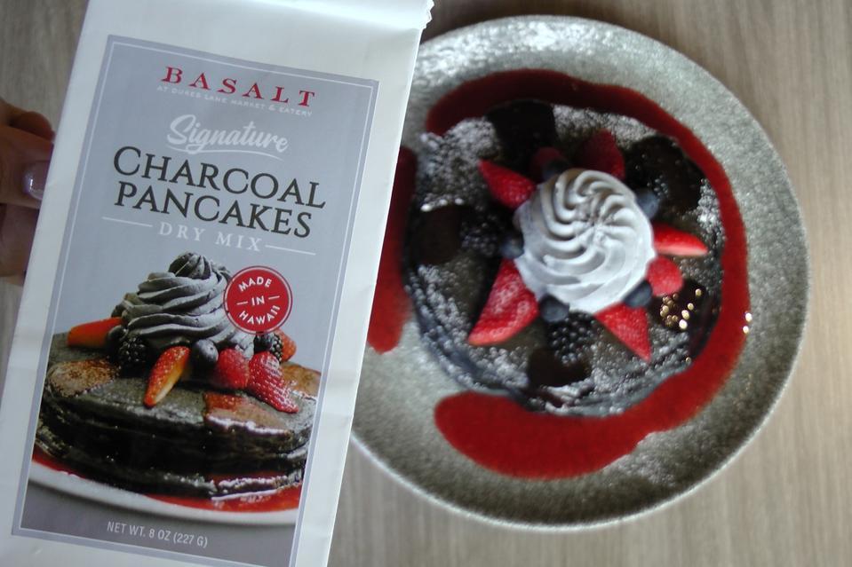 Charcoal pancake mix