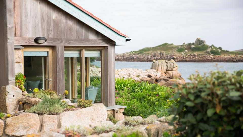One of the waterfront cottages on Tresco.