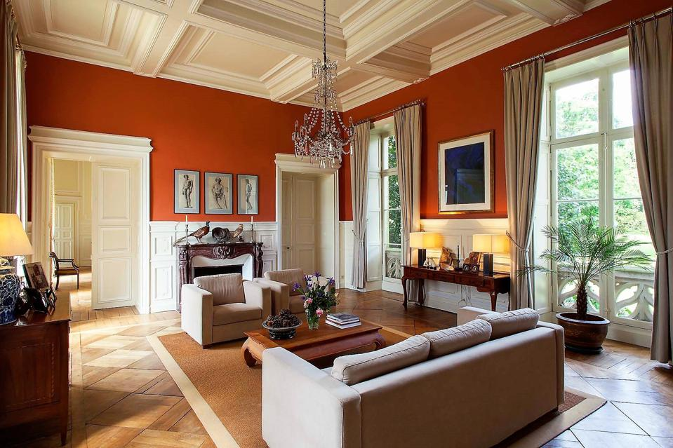living room french chateau in brittany vitre france groupe mercure