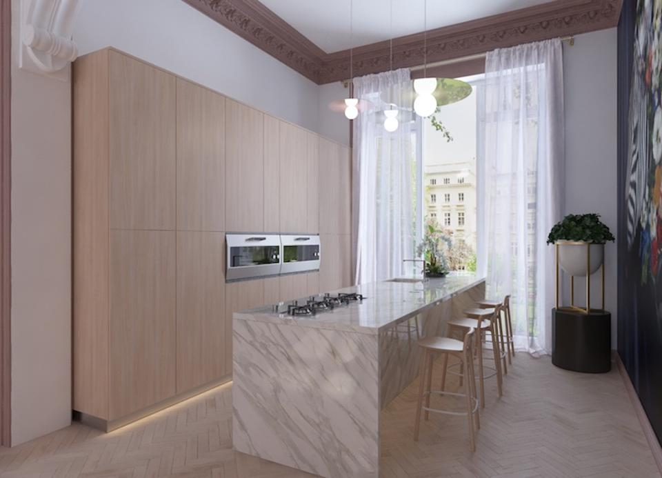 A fully integrated kitchen