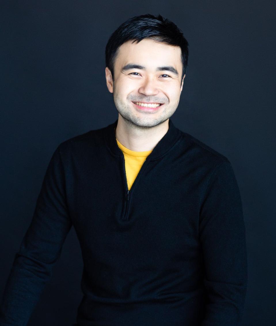 Asian male dark background