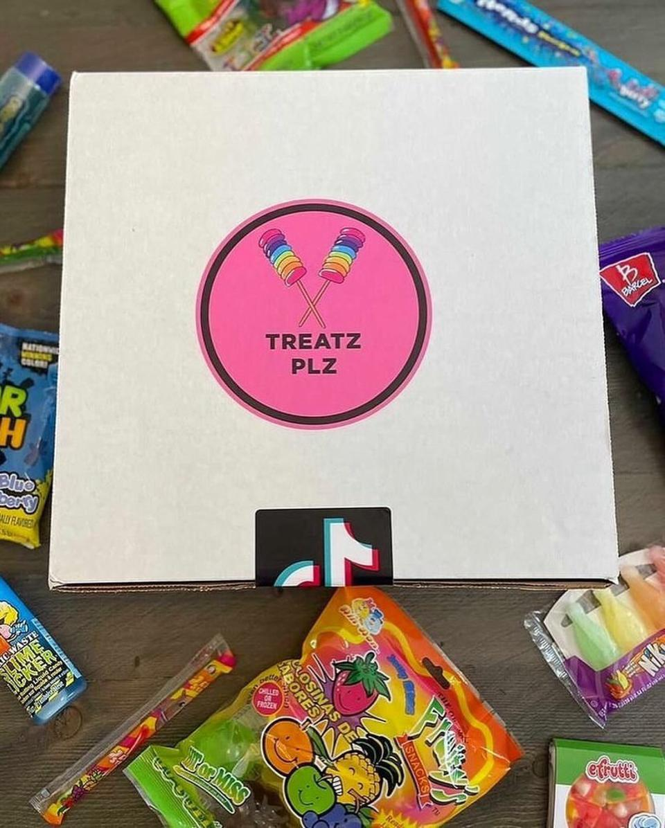 One of the boxes of candy TreatzPlz offers.