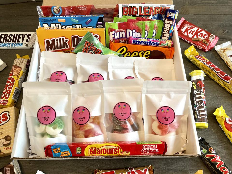 One of TreatzPlz's boxes of candy
