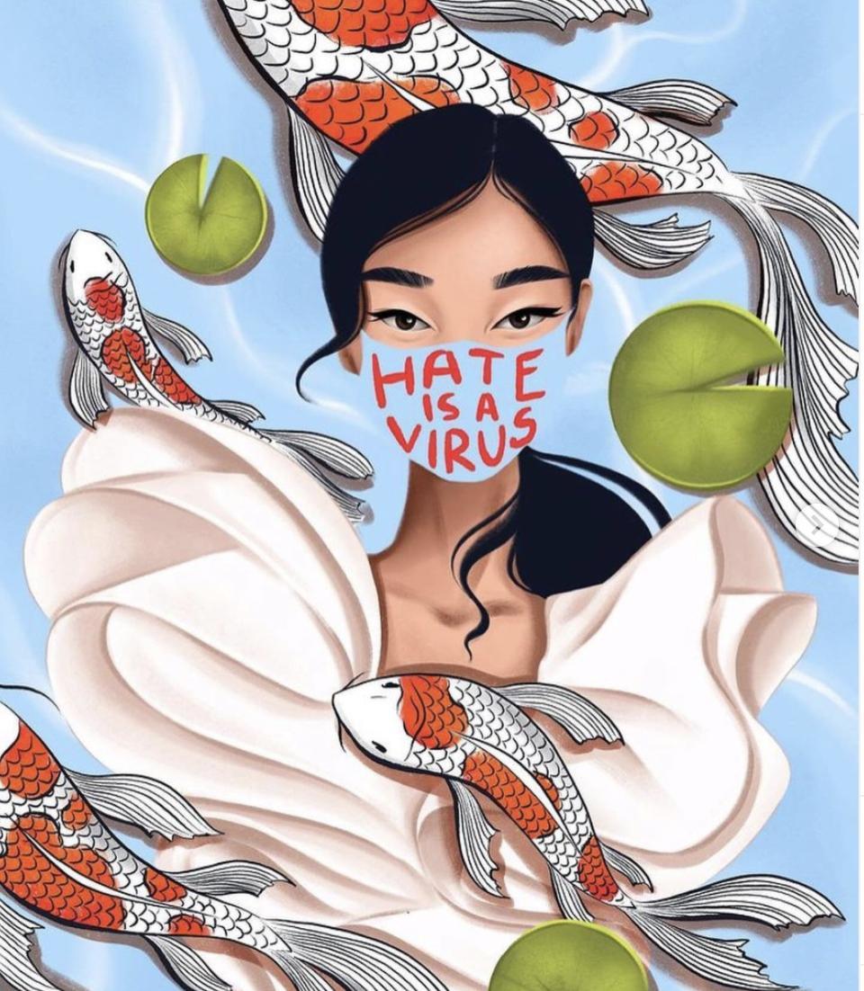 Hate Is A Virus portrait illustrated by Anna Rogacheva rogacheva_illustration.