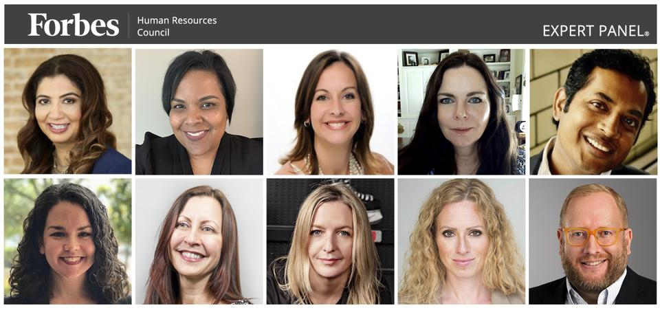 Photos of featured Forbes Human Resources Council members.