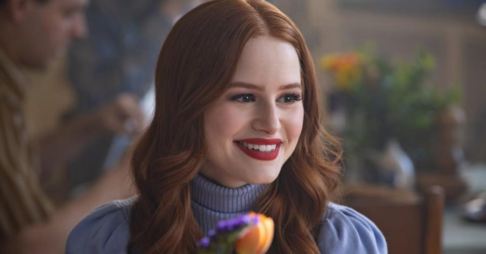 A photo of actress Madelaine Petsch in a scene on the television series 'Riverdale'