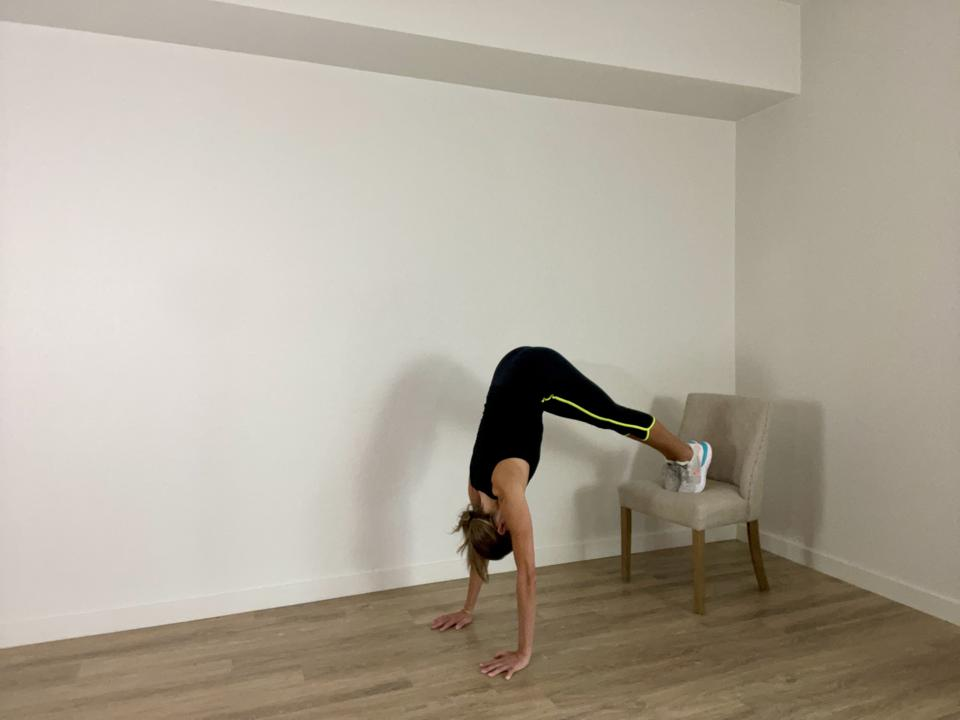 Plank to Pike with Desk Chair