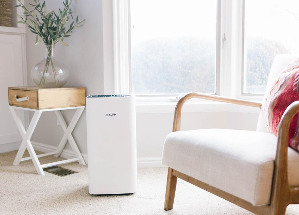 AirSoap air purifier HEPA PhoneSoap allergens virus covid clean dust