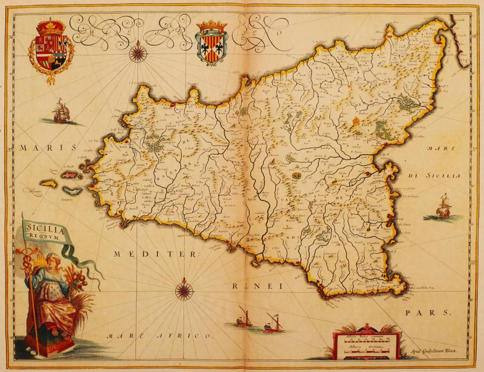Map of Sicily 1635