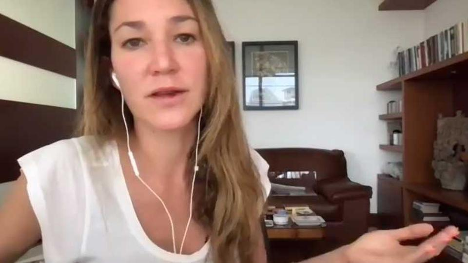 Cecilia Muldoon, CEO and founder of Verivin on a web call